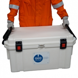 Geobox cooler for core section