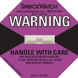 Shock tag label